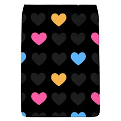 Emo Heart Pattern Flap Covers (s)