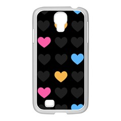 Emo Heart Pattern Samsung Galaxy S4 I9500/ I9505 Case (white)