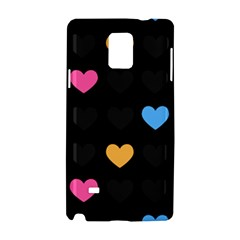 Emo Heart Pattern Samsung Galaxy Note 4 Hardshell Case