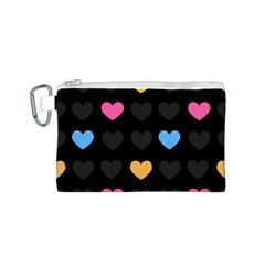 Emo Heart Pattern Canvas Cosmetic Bag (s)