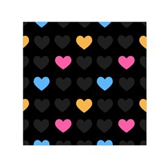 Emo Heart Pattern Small Satin Scarf (square)