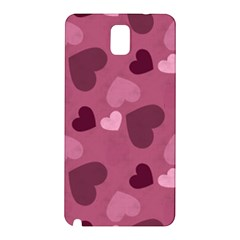 Mauve Valentine Heart Pattern Samsung Galaxy Note 3 N9005 Hardshell Back Case
