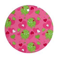 Monster Love Pattern Round Ornament (two Sides)