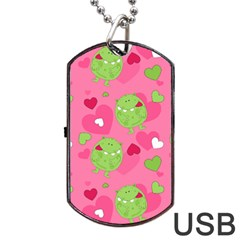 Monster Love Pattern Dog Tag Usb Flash (two Sides)