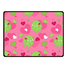 Monster Love Pattern Double Sided Fleece Blanket (small)