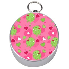 Monster Love Pattern Silver Compasses