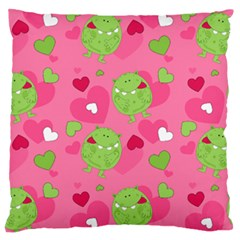 Monster Love Pattern Standard Flano Cushion Case (one Side)