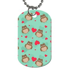 Owl Valentine s Day Pattern Dog Tag (one Side)
