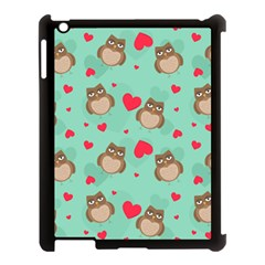 Owl Valentine s Day Pattern Apple Ipad 3/4 Case (black)