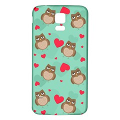 Owl Valentine s Day Pattern Samsung Galaxy S5 Back Case (white)