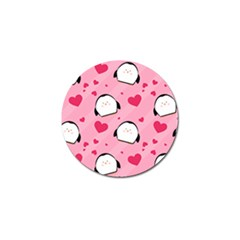 Penguin Love Pattern Golf Ball Marker