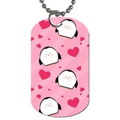 Penguin Love Pattern Dog Tag (two Sides)