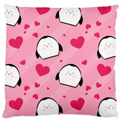 Penguin Love Pattern Large Cushion Case (one Side)