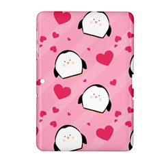 Penguin Love Pattern Samsung Galaxy Tab 2 (10 1 ) P5100 Hardshell Case