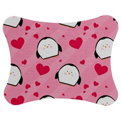 Penguin Love Pattern Jigsaw Puzzle Photo Stand (bow)