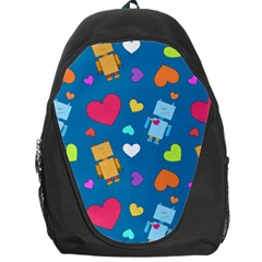 Robot Love Pattern Backpack Bag