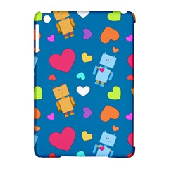 Robot Love Pattern Apple Ipad Mini Hardshell Case (compatible With Smart Cover)