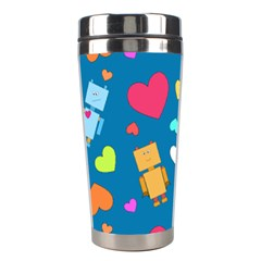 Robot Love Pattern Stainless Steel Travel Tumblers