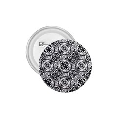 Black And White Ornate Pattern 1 75  Buttons