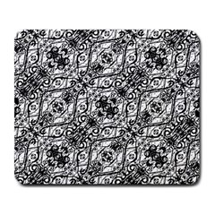 Black And White Ornate Pattern Large Mousepads