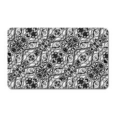 Black And White Ornate Pattern Magnet (rectangular)