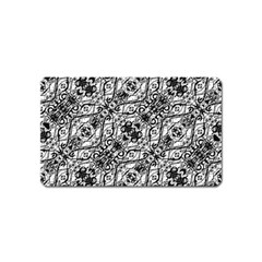 Black And White Ornate Pattern Magnet (name Card)
