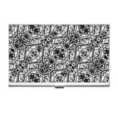 Black And White Ornate Pattern Business Card Holders