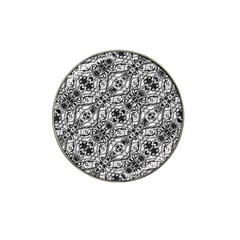 Black And White Ornate Pattern Hat Clip Ball Marker (4 Pack)