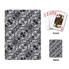 Black And White Ornate Pattern Playing Card