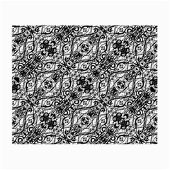 Black And White Ornate Pattern Small Glasses Cloth (2 Side)