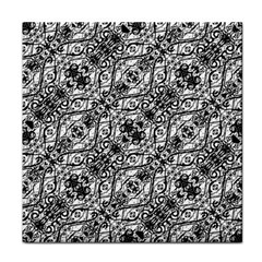 Black And White Ornate Pattern Face Towel