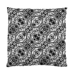 Black And White Ornate Pattern Standard Cushion Case (one Side)