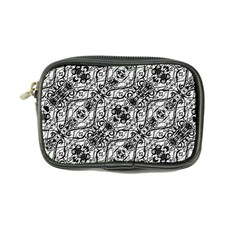 Black And White Ornate Pattern Coin Purse
