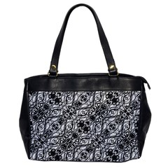 Black And White Ornate Pattern Office Handbags