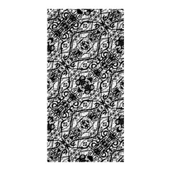 Black And White Ornate Pattern Shower Curtain 36  X 72  (stall)