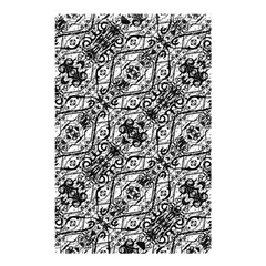 Black And White Ornate Pattern Shower Curtain 48  X 72  (small)