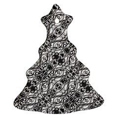 Black And White Ornate Pattern Ornament (christmas Tree)