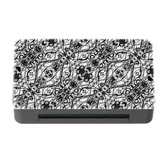 Black And White Ornate Pattern Memory Card Reader With Cf