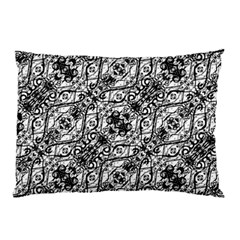 Black And White Ornate Pattern Pillow Case (two Sides)