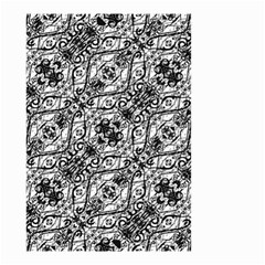 Black And White Ornate Pattern Small Garden Flag (two Sides)