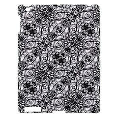Black And White Ornate Pattern Apple Ipad 3/4 Hardshell Case