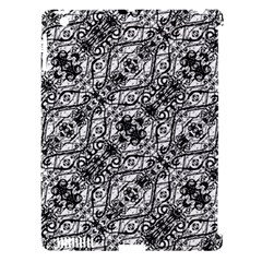 Black And White Ornate Pattern Apple Ipad 3/4 Hardshell Case (compatible With Smart Cover)