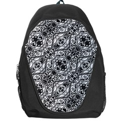 Black And White Ornate Pattern Backpack Bag