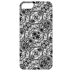 Black And White Ornate Pattern Apple Iphone 5 Classic Hardshell Case
