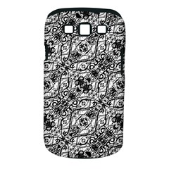 Black And White Ornate Pattern Samsung Galaxy S Iii Classic Hardshell Case (pc+silicone)