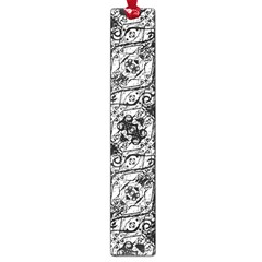 Black And White Ornate Pattern Large Book Marks