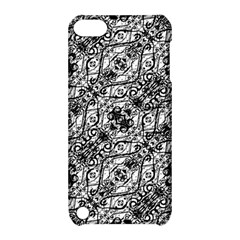 Black And White Ornate Pattern Apple Ipod Touch 5 Hardshell Case With Stand
