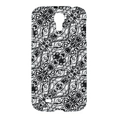 Black And White Ornate Pattern Samsung Galaxy S4 I9500/i9505 Hardshell Case