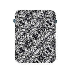 Black And White Ornate Pattern Apple Ipad 2/3/4 Protective Soft Cases