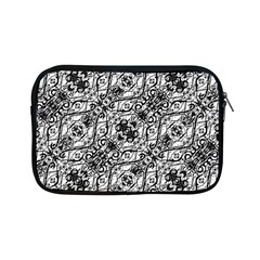 Black And White Ornate Pattern Apple Ipad Mini Zipper Cases